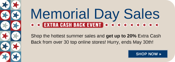 Memorial Day Extra Cash Back Event